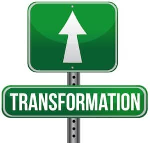 Transformation Road Sign