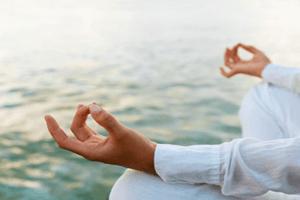 Male Meditating